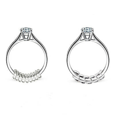 Ring Size Adjuster with Silver Polishing Cloth Perfect For Loose Rings 15pcs Set
