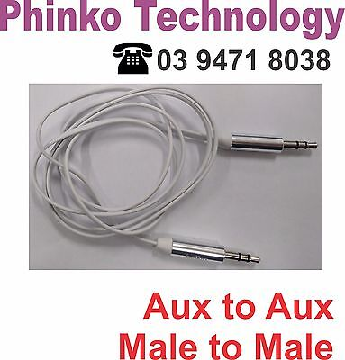 NEW Belkin AUX Stereo Audio Cable Extension Cord 3.5mm Input Male to Male WHITE