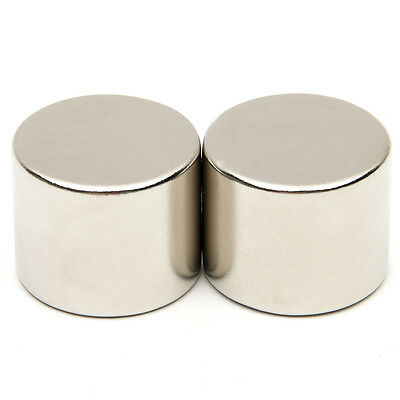 2x N52 25x20mm Large Strong Fridge Magnets Neodymium Round Rare Earth Powerful