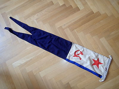 "!!! Military USSR Russia battleship Naval Fleet VMF 51x10"" flag wool BLUE Cheap!"