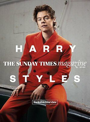UK Harry Styles The Sunday Times Magazine Cover Clippings One Direction Promo
