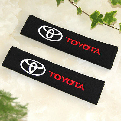 Seat Belt Shoulder Pads 2 pair Color Black for Toyota