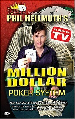 NEW Masters of Poker: Phil Hellmuth's Million Dollar Poker System (DVD)