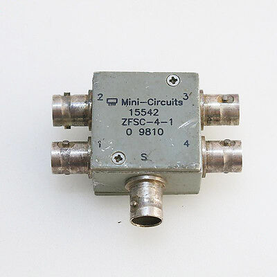 Mini-Circuits ZFSC-4-1 1-1000MHz 4-Way BNC Power Divider Splitter