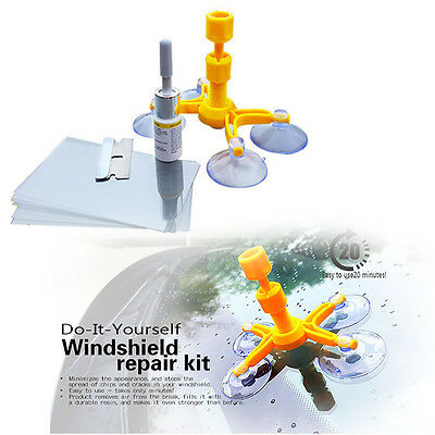 Windscreen Windshield Repair Tool DIY Car Auto Kit Window Glass For Chip & Crack