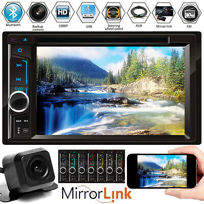 Touch Screen Car Radio Stereo Bluetooth 6.2'' HD Digital Double 2Din For Ford
