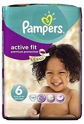 Pampers Active Fit S6 - 4x 19 Couches