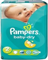 Pampers Baby Dry S2 -  2x 60 Couches