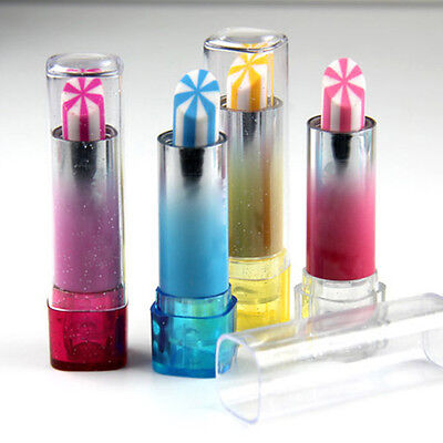 Rotary Lipstick Eraser Novelty Pencil Erasers For Kids Gift Party Bag Fillers UK
