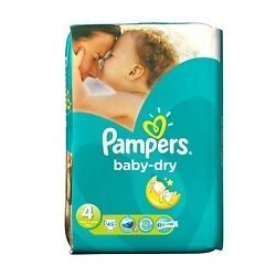 Pampers Baby Dry S4 - 2x 45 Couches