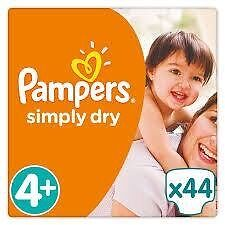 Pampers Simply Dry S4 - 2x 44 Couches