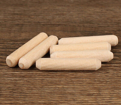 "2/5""(10mm)Diameter~8/5""(40mm) Length~ Grooved Fluted Wooden Dowels Pin Hardwood"