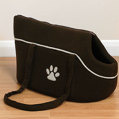 Soft Brown Pet Travel Carry Bag Cage/Handbag/Tote Portable Carrier For Dog/Puppy