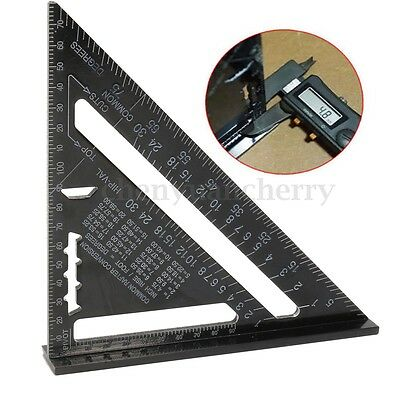 7'' Aluminum Alloy Triangle Angle Protractor Speed Square Rafter Ruler Miter