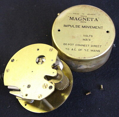 MAGNETA slave clock mechanism. Not Synchronome or GENTS PUL-SYN-ETIC