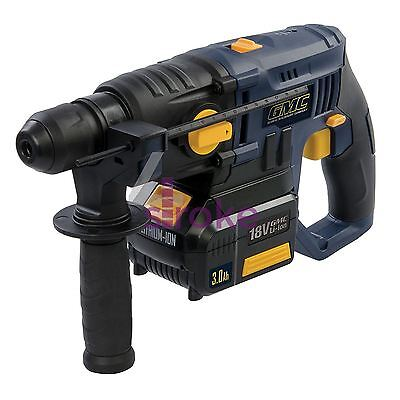 Heavy Duty 18V Sds Plus Hammer Drill Li-Ion Battery Cordless DIY