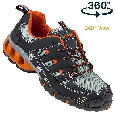 Urgent Lightweight Safety Shoes WORK BOOTS STEEL TOE CAP 215 S1 360º View