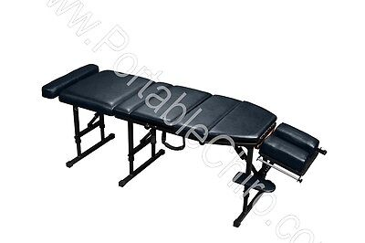Portable Chiropractic Table with Drops - Navy Blue