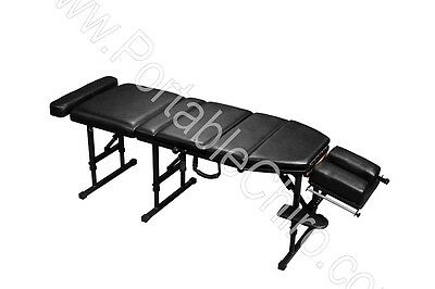 Portable Chiropractic Table with Drops - Black