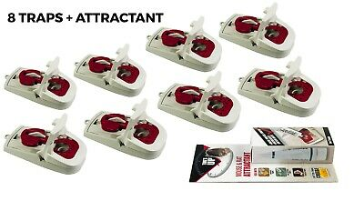 Powerful Mouse Traps x8 and Trap Bait Kit Mice Reusable Pest Control Rodent