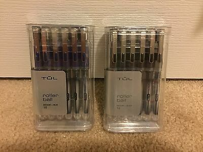 TUL Rollerball Pens Medium Point Black Ink Blue Fine Your Choice New Assorted