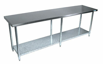 "Stainless Steel Work Prep Table 24"" x 96"" NSF Certified Heavy Duty"