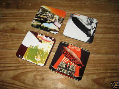 Led Zeppelin Album Cover Drinks Coaster Set