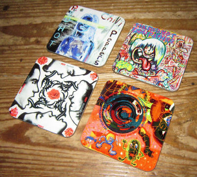 The Red Hot Chili Peppers Album Cover COASTER Set