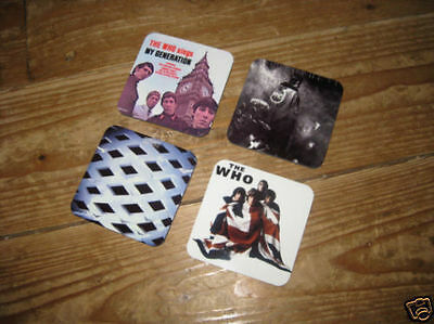 The Who Album Cover Drinks Coaster Set