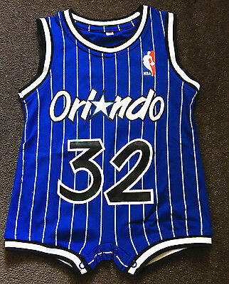 Baby Infant toddler NBA Jersey Romper Jumpsuit Orlando Magic - O'Neal #32