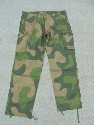NEW Norwegian Army M98 RIPSTOP Temperate Camouflage Combat Trousers British Made