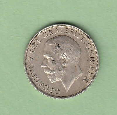 1911 Great Britain One Shilling Silver Coin - George V - VF