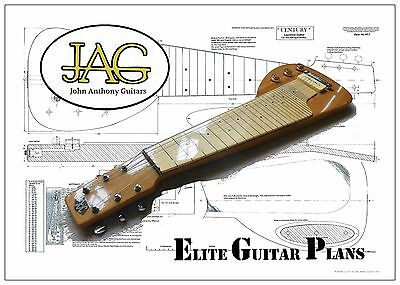 Luthiers Project Plan/Drawing for Gibson Century Lap Steel guitar P057