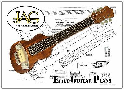 Luthiers Project Plan/Drawing for Gibson EH100 Lap Steel guitar Ideal Gift P064