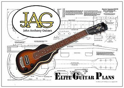 Luthiers Project Plan/Drawing for Gibson EH150 Lap Steel guitar Ideal Gift P016