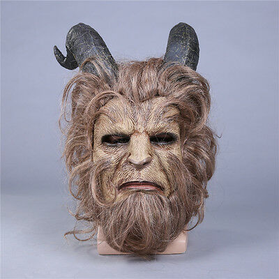Cosplay Beauty And The Beast Mask Prince Mask Horror Beast Mask Handmad New Hot