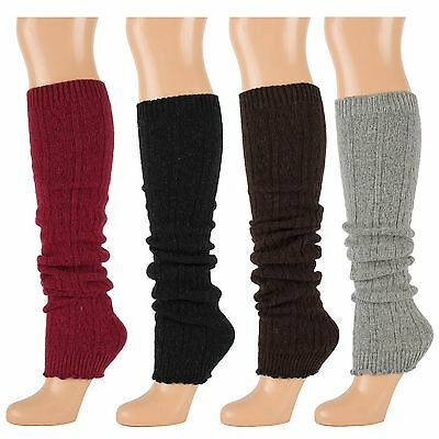 Decorative Knitted Wool Leg Warmers