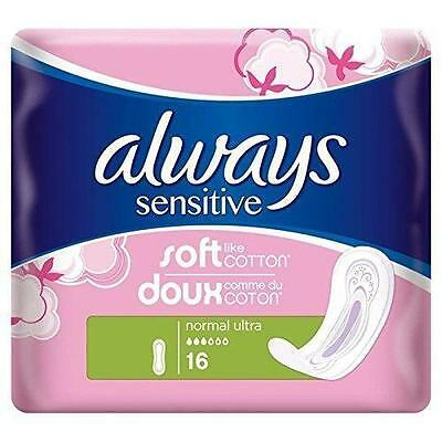 ** 2 X Always Sensitive Normal Ultra 32 Towels New *  Ladies