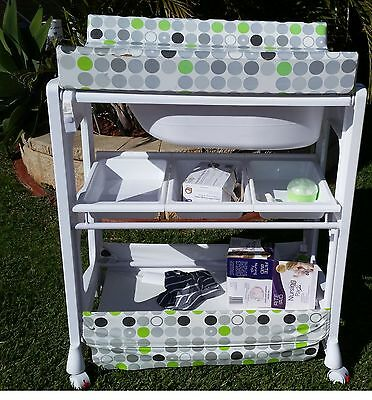 Baby change table with storage