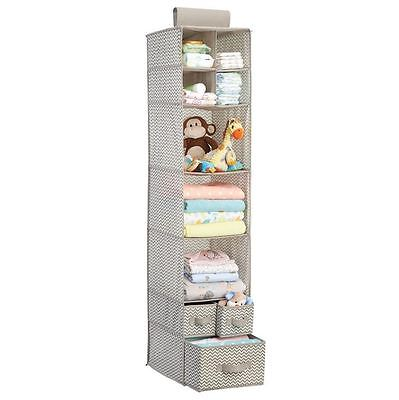 Baby Closet Hanging Organizer Clothing Blankets Toys Shoes Nursery Space Storage