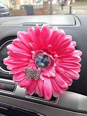 Yankee Candle Car Vent Stick Gerbera Gem And Butterfly Detail Flower Hot Pink