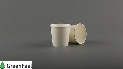 100 x 4oz WHITE PAPER CUPS Disposable Single Wall for Espresso Sampling