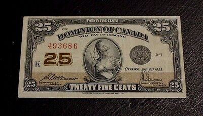1923 Dominion of Canada  DC-24c  McCavour Saunders VF