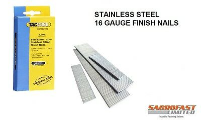 Stainless Steel 16 Gauge Finish Nails By Tacwise (160 Type)