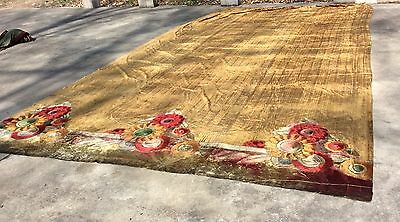 1920s Commercial Theater Curtain, 11 feet x 20 feet Velvet on Canvas Textile