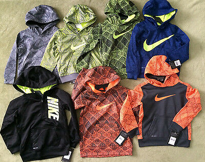 NWT Nike Toddler Therma Dri Fit Hoodie Hooded Sweater Sz 2T 3T 4T Multi Colors