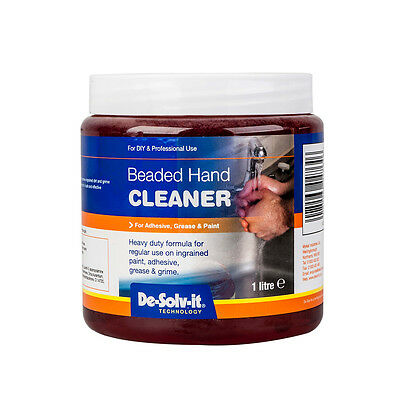 *** De-Solv It Professional DIY Beaded Hand Cleaner 1 Litre Heavy Duty