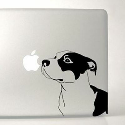 Pit Bull Large Black & Clear Vinyl Decal by artist Ivy Bee-Free Shipping ASAP