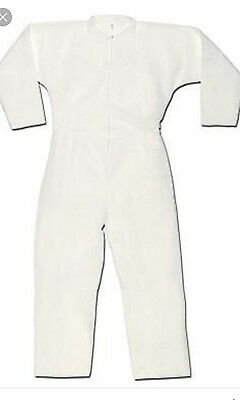 DUPONT TYVEK COVERALL SUIT  DISPOSABLE Key Guard lot of 2 paint protection LARGE