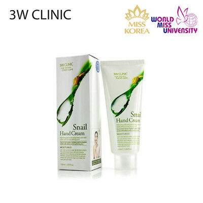 3W CLINIC Soft Moisturizing Skin Care Hand Cream *SNAIL* Korean Cosmetics